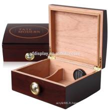 L'humidificateur en bois de cèdre espagnol de haute qualité tiennent le stockage de cigare d'cigare de 50 cigares