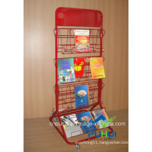 Doulbe Sided Metal Wire Book Rack (PHC319)