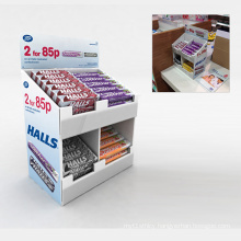 Christmas Promotion Floor Pallet Books Compartments Cardboards Display Stand