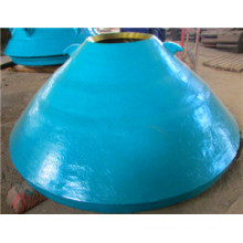 high manganese cone crusher spare and wearing parts concave and mantle