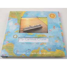 12 X 12 Album de scrapbook de style de voyage avec fenêtre
