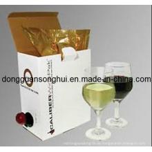 Trauben-Wein-Verpackungs-Lätzchen-Beutel im Kasten / Wein-Plastiktasche / Wein-Beutel