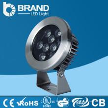 Lumière de fontaine RVB colorée en acier inoxydable de haute qualité, lumière de fontaine sous-marine LED