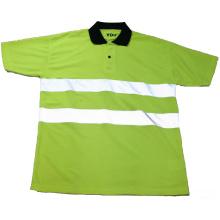 Camiseta reflexiva verde de la seguridad