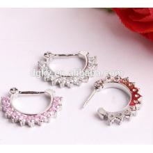 Livre amostra falso nariz anel Clicker jóias