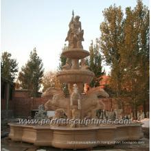 Fontaine de marbre pour l'eau de plein air (SY-F352)