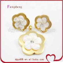 Conjunto de joyas de boda de acero inoxidable fabricante de porcelana