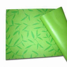 PVC Yoga Mat with Optional Thickness, Available in Different Colors and Thicknesses