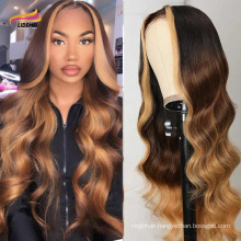 Brazilian Hair hd Lace Frontal Wig Body Wave Highlight Wigs Virgin Human Hair Transparent Swiss Lace Front Wigs For Black Women