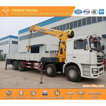 SHACMAN F3000 8*4 12tons truck with loading crane
