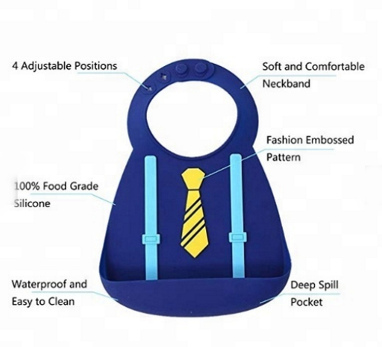 Fashion Silicone Bibs