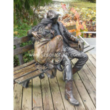 Garden Life Size Bronze Man and Woman Statue