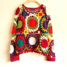 Vestido de la manera de la rebeca del halter del suéter de la mano de la vendimia de la moda de la aduana