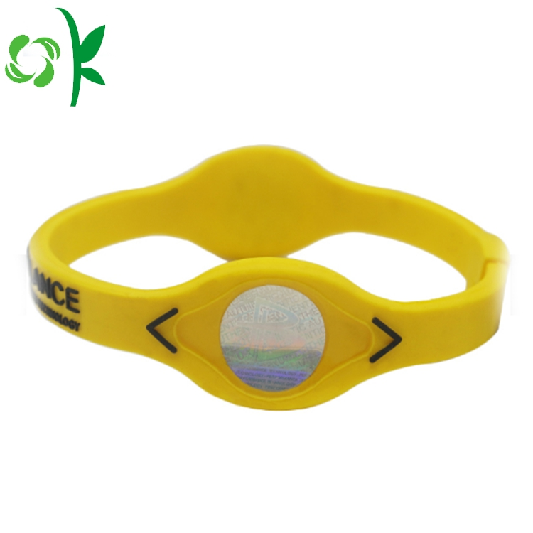 yellow silicone power bracelet