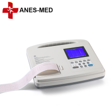 ECG portátil de electrocardiógrafo monocanal de 12 derivaciones