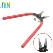 Alicates de nariz liso da ferramenta com o punho vermelho para a fatura da colar do pendente, ZYT0002