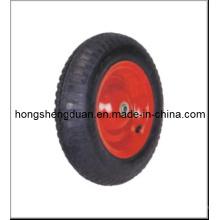Roue en caoutchouc de roue de 350-8PU, jante de roue, roue de PU