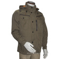 Casual Relaxed Fit Cotton/Poly Hood Jacket & Outcoat Men′s
