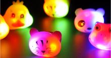 Moda linda mini colorido dedo novo luz