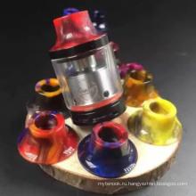 Красочные E-сигареты Смола Капельный наконечник Эпоксидная смола Coilart Mage RTA Капельные советы 510 Капельные советы