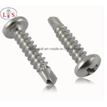 Stainless Steel Round Head Self Drillling Screw / Fastener