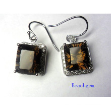 Popular 925 Sterling Silver Quartz Jewelry Earrings