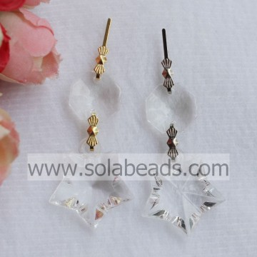 23*25MM Acrylic Crystal Star Hanging Drops Pendants