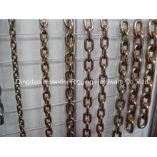 Block Chain, Yellow Zinc Plated, Hoist Chain, G80 Chain, High Strength Mine Chain