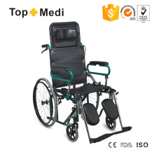 Lightweight High Back Manual Reclining Steel Wheelchair with Neck Cushion