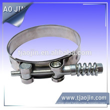 Hose clamp with spring,Especially for strong clamp