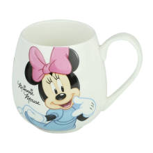 A Grade Customized Carton Design Porcelain Tea Mugs for Promotional Gifts