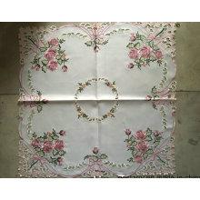 Mantel hecho a mano del estilo del bordado de la flor de Cutwork 2016 nuevo diseño