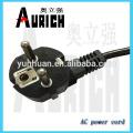 Câble d'alimentation de cordon d'alimentation Euro jeu de câbles de certification VDE