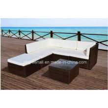 PE Rattan moderno ao ar livre lazer pátio sofá ao ar livre
