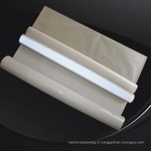 Tissu réfléchissant de polyester de polyester de spandex d'éclat pour la veste