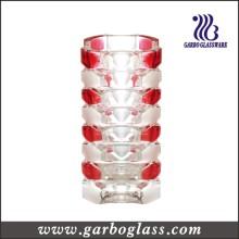 Vaso de diseño Morden en color rojo