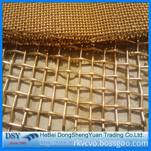 Brass Crimped Wire Mesh for Sales
