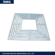 Aluminum water export grate for building materials