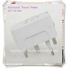 Adaptador de corriente universal universal para viajes en todo el mundo AU UK US EU