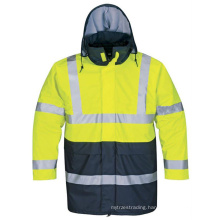 High Visibility Rain Jacket with Hi-Vis Reflective