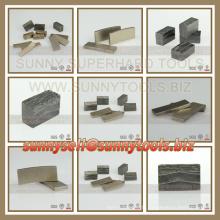 Outil de segment de diamant pour le marbre