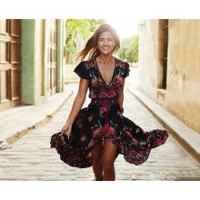 Nueva falda larga colorida del vestido de la flor de las nuevas de la manera del estilo mujeres atractivas de la flor
