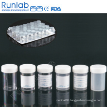 CE Marked 60ml Universal Specimen Containers with Screw Cap