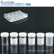 Recipientes de amostra universais marcados com marca de água de 60 ml com tampa de parafuso