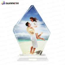 Sunmet sublimation crystal photo frame souvenir gift trophy---manufacturer