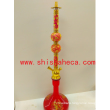 Red China New Design Nargile Smoking Pipe Shisha Hookah