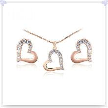 Bijoux en cristal Bijoux en alliage Ensemble de bijoux en alliage de mode (AJS168)