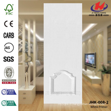 JHK-008-2 High Quality Cheap Economic White Primer Door Skin Popular Manumacture Graceful Mosaic Glass Door