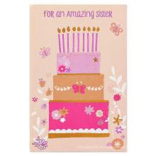 Tarjeta de invitación de dibujos animados Flash Tarjeta de invitación de cumpleaños para niña Tarjeta de papel Brillo