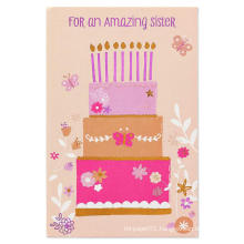 Cartoon Flash Invitation Card Girl's Birthday Invitation Card Card Stock Paper Glitter